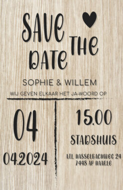 Trouwkaartje | Save the Date